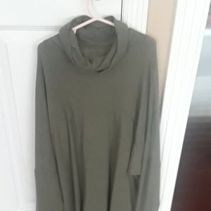 Aerie olive turtleneck sweater